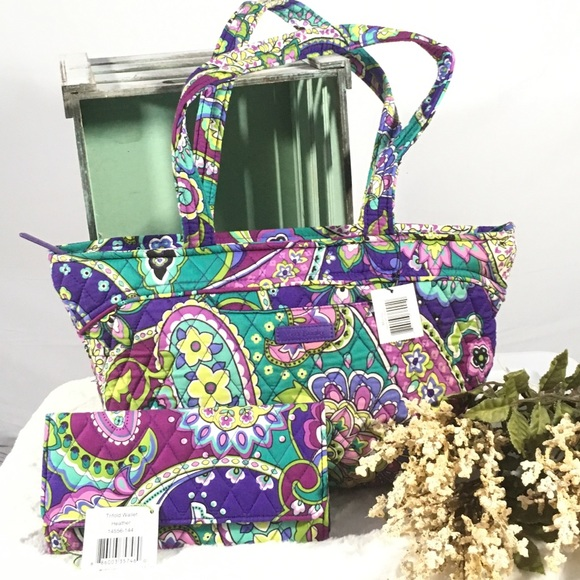 fc6014cdf5 Vera Bradley Mandy bag  wallet set in heather